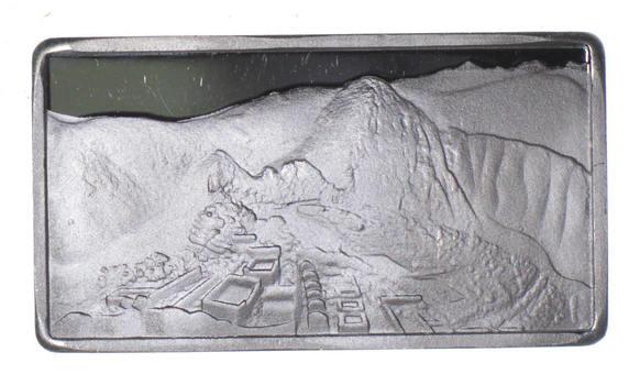 2.5 Gram .999 Fine Silver Bar -Machu Picchu-Only 300 Pcs Minted!