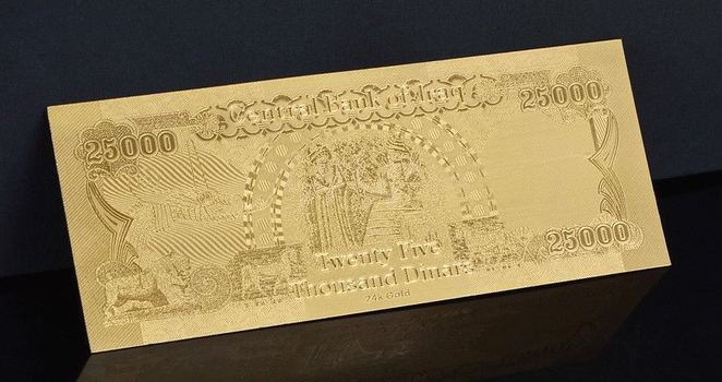 25,000 Dinar Uncirculated Middle East- Replica Bank Note