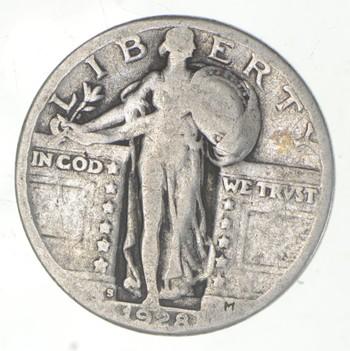 25c - 1928-S Standing Liberty Quarter - 90% Silver