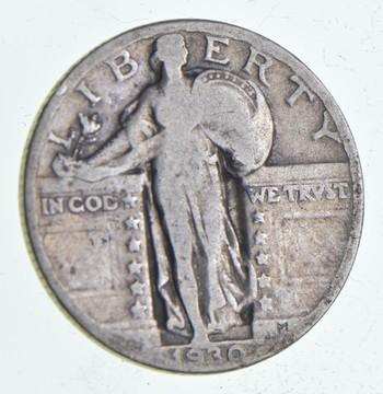 25c - 1930 Standing Liberty Quarter - 90% Silver
