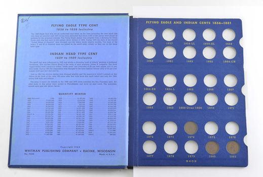 28 Coins Partial 1859-1909 Indian Head Cent Set Collection Lot - Nice Album
