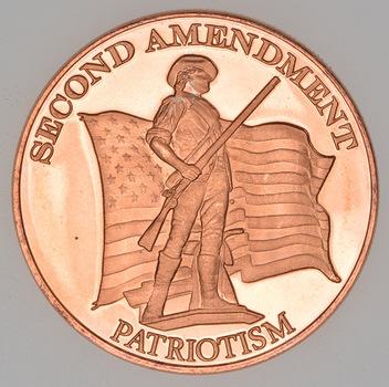 2nd Amendment Patriotism - 1 Oz Round - .999 Fine Copper