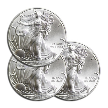 3 x RANDOM DATE American Silver Eagle 1 Troy Oz .999 Fine Silver - 3 Coins For 1 Money