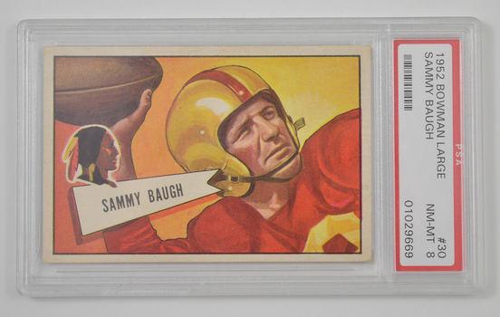#30 Bowman Large 1952 Sammy Baugh Washington Redskins - PSA 8