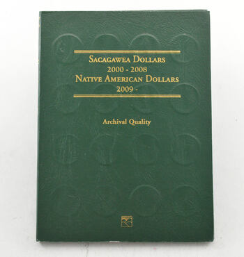 32 Coins Sacagawea / Native American Dollar Collection 2000-2008 / 2009-2015 - Album Set Complete
