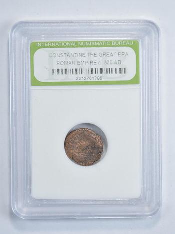 330 AD Constantine The Great Era Roman Empire Coin - Slabbed INB