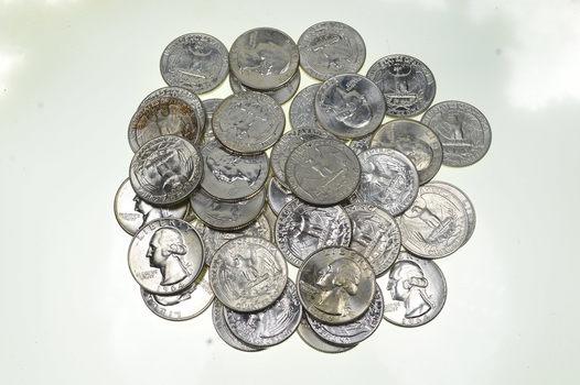 40 1958-1964 BU Unc Washington Silver Quarters 90% Silver $10 ROLL FACE