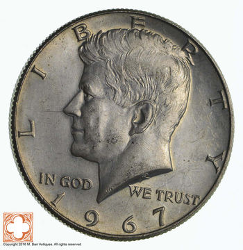 40% SILVER 1967 Kennedy Half Dollar