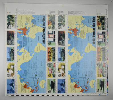 $4.80 Fave Value - Unused Postage - 1943: Turning the Tide Stamp Collector's Sheet (29c)