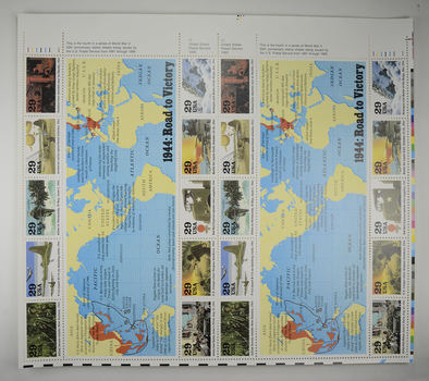 $4.80 Fave Value - Unused Postage - 1944: Road to Victory Stamp Collector's Sheet (29c)