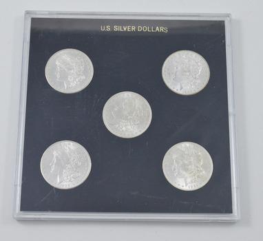 5 Coins - 1878-S 1884-O 1896 1902-O 1921 Morgan Silver Dollar US Coin Set