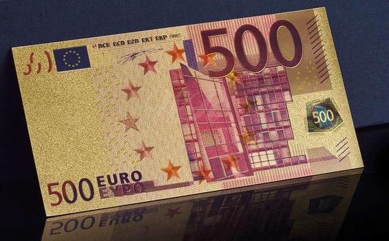 $500 Euro - Gold Foil - Fantasy Bank Note
