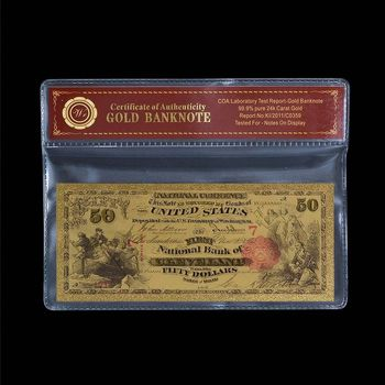 $50.00 1875 Cleveland, OH National Bank Note - Replica Bank Note