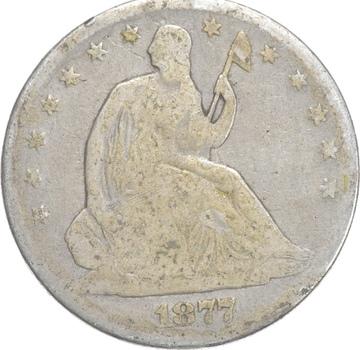 50c - Better - 1877 - Seated Liberty Half Dollar