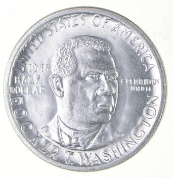 50c - Gem BU - 1946 Booker T Washington Commemorative Half Dollar
