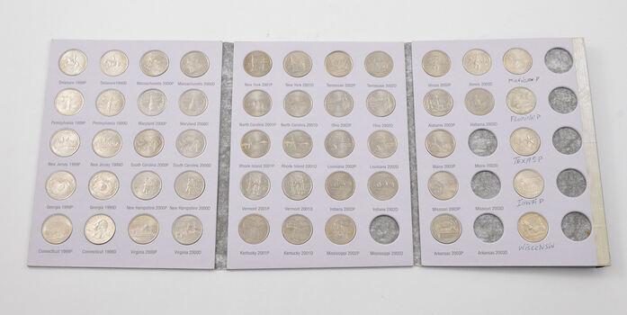 51 Coins Statehood 1999-2003 Washington Quarter Collection Set - Mostly Complete