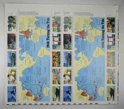 $5.80 Face Value - Unused Postage - 1943: Turning the Tide Stamp Collector's Sheet (29c)