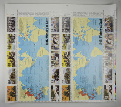 $5.80 Face Value - Unused Postage - 1945: Victory at Last Stamp Collector's Sheet (29c)