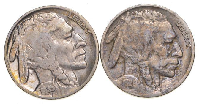 5c Buffalo Nickels - Great Detail in Buffalo Horn - 1928 & 1935-S - Sweet!