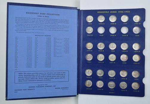 74 Coins - Roosevelt Dimes 1946-1976 - Partial Set