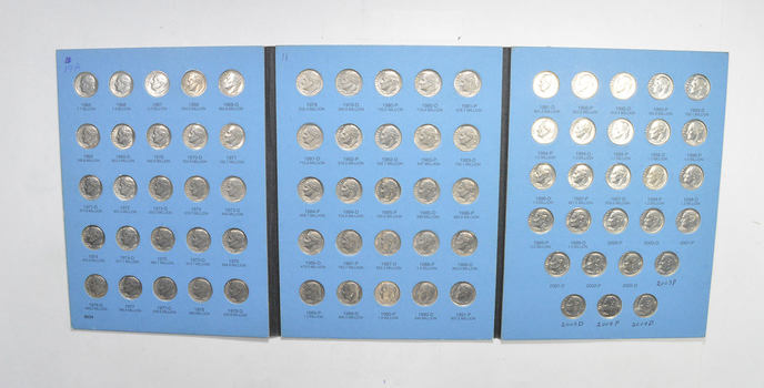 77 Coins - Set of 1965-2004 Roosevelt Dimes - US Collection Lot