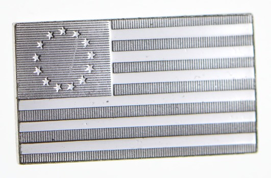 .925 Sterling Silver Betsy Ross Flag - Flag Series - 1.7 Grams