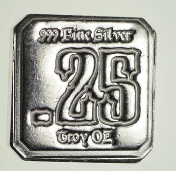 .999 Fine Suns Of Liberty Mint - .25 OZ. Silver Bar