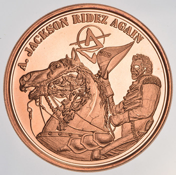 A Jackson Ridz Again- Zombie Apocalypze - 1 Oz .999 Fine Copper Round