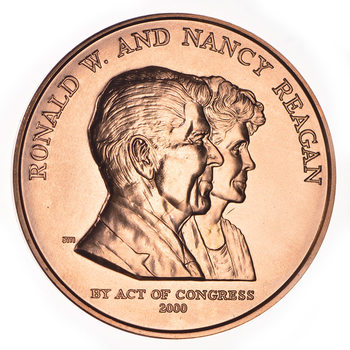 Act of Congress 2000- RonaldW. And Nancy Reagan1.5 Inch Bronze Medal -Struck At The U.S. Mint