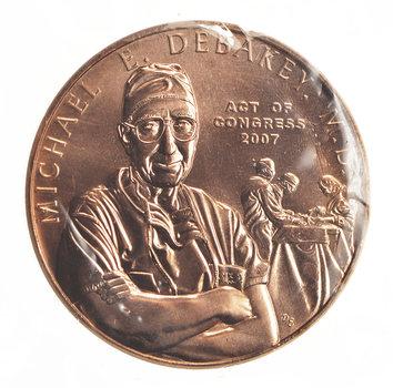 Act Of Congress 2007 - Michael E. Debakey. M.D. 1.5 Inch Bronze Medal - Struck At The U.S. Mint