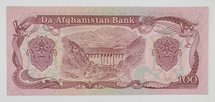 Afghanistan Currency- 100 Afghanis - Rare Currency Note!