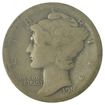 ALMOST 100 Years OLD 1916 Mercury Liberty 90% Silver United States Dime