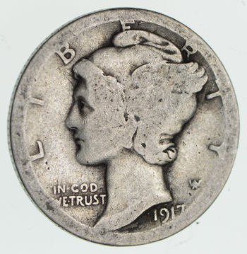ALMOST 100 Years OLD 1917-S Mercury Liberty 90% Silver United States Dime