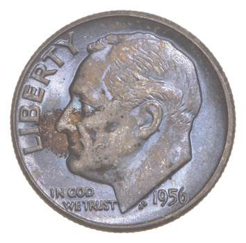 AMAZING - TONE - Roosevelt Dime 90% Silver - WOW Look at the colors!