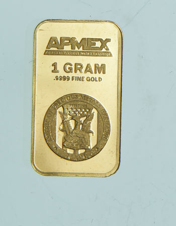 Apmex 1 Gram Fine Gold Bar