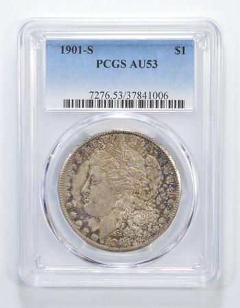 AU53 1901-S Morgan Silver Dollar - Graded PCGS