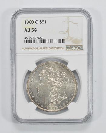 AU58 1900-O Morgan Silver Dollar - NGC Graded