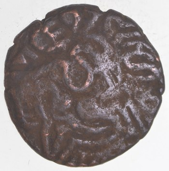 AUTHENTIC - 17th Century India Mysore - Good Luck King and Conch Coin - OVER 300 Years Old