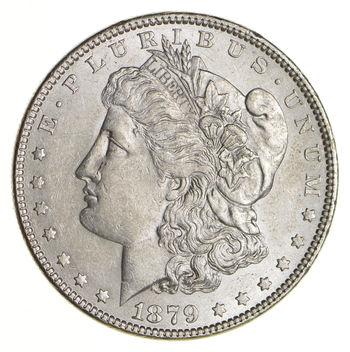 AU/Unc - 1879 Morgan Silver Dollar $1.00 High Grade