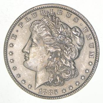 AU/Unc - 1885 Morgan Silver Dollar $1.00 High Grade