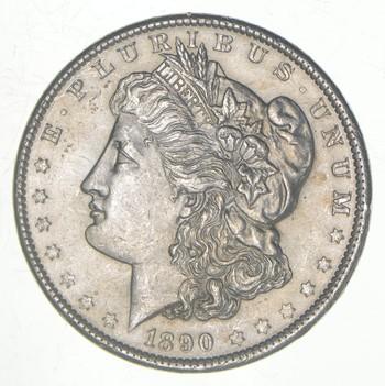 AU/Unc - 1890 Morgan Silver Dollar $1.00 High Grade