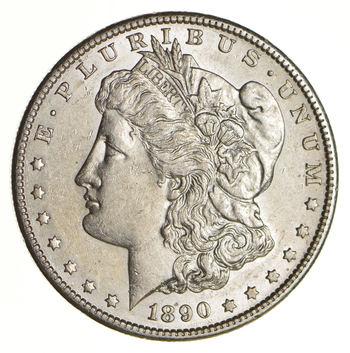 AU/Unc - 1890-S Morgan Silver Dollar $1.00 High Grade