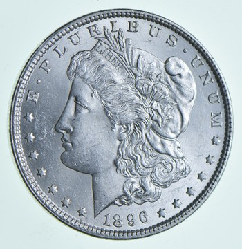 AU/Unc - 1896 Morgan Silver Dollar $1.00 High Grade