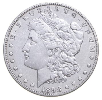 AU/Unc - 1898 Morgan Silver Dollar $1.00 High Grade