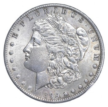 AU/Unc - 1899-O Morgan Silver Dollar $1.00 High Grade