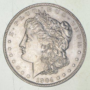 AU/Unc - 1904-O Morgan Silver Dollar $1.00 High Grade