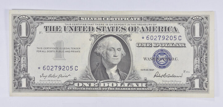 AU/Unc ERROR Replacement *Star* 1957 $1.00 Silver Certificate Note - Almost New