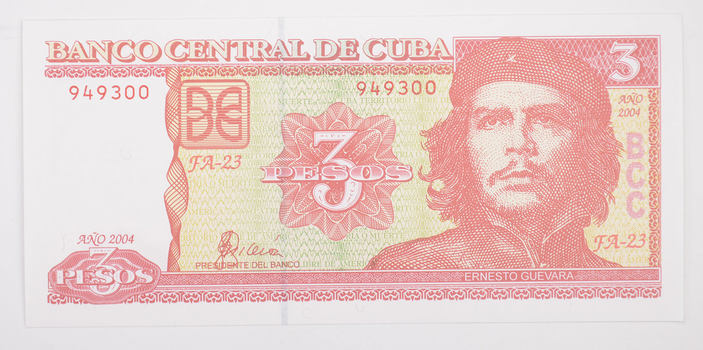Banco Central de Cuba 3 Pesos Note