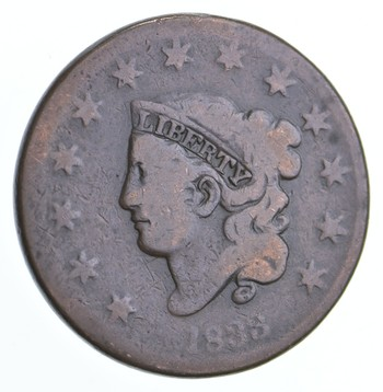 Better 1833 Matron Head - US Large Cent Penny - Coin Collection Lot Set Break
