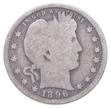 Better 1896 - US Barber 90% Silver Quarter Coin Collection Set Break
